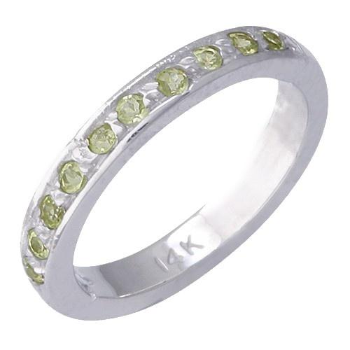 14K White Gold Peridot Toe Ring
