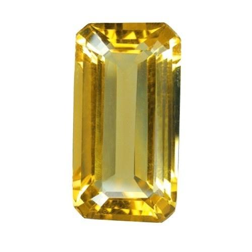 Emerald Cut Synthetic Yellow Topaz