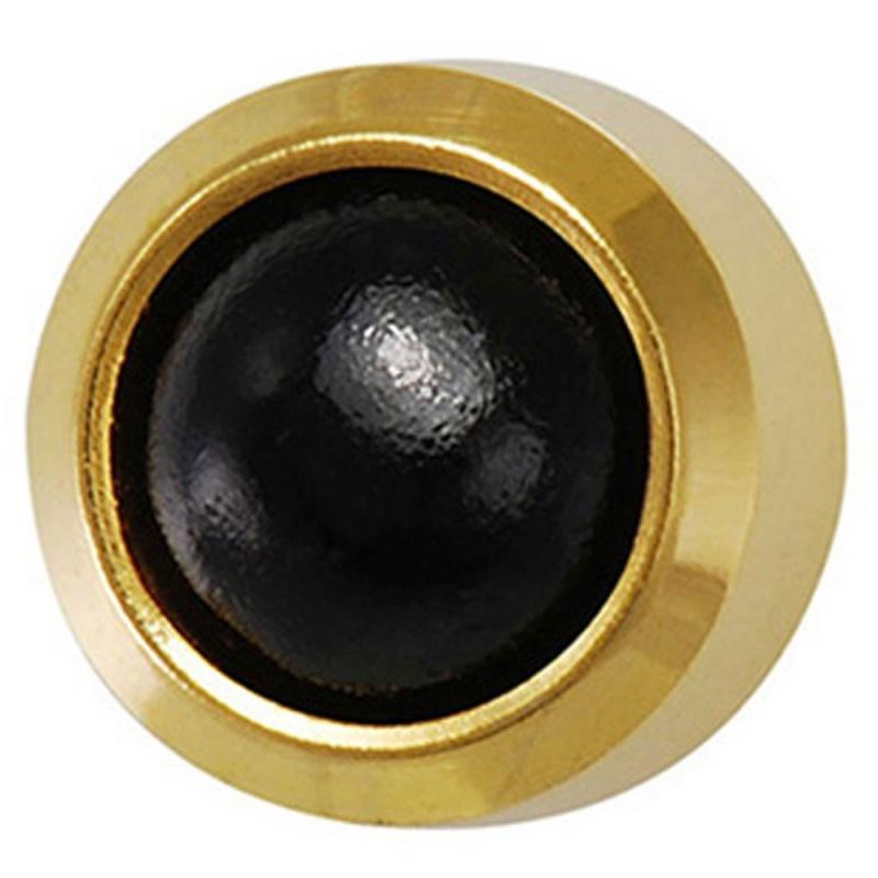 Black Onyx Gold Plated Ear Piercing Studs
