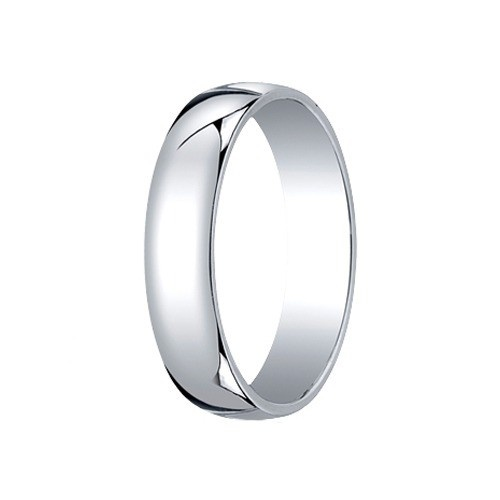 14K White Gold Comfort Fit Band 5 Mm