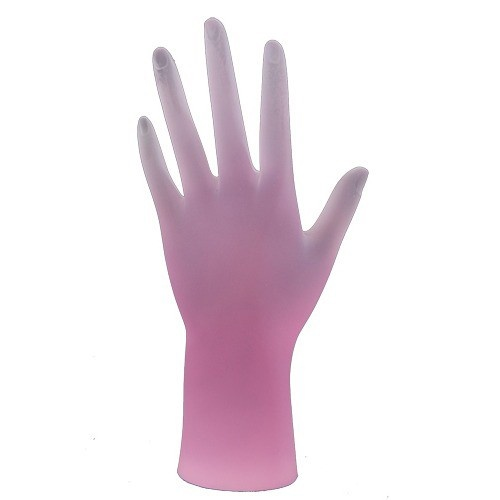 Frosted Acrylic Hand Forms In Pink