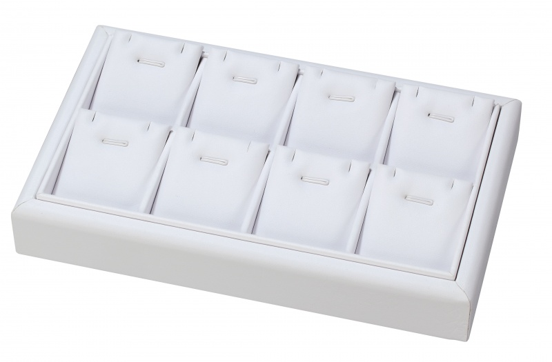 """8-Compartment Stackable Pendant Trays W/Barbs, 9"""" L X 5.5"""" w"""