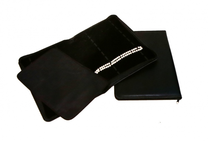Travel Folders For Jewelry In Black Leatherette, 10 X 14 In