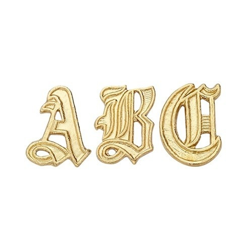 14K Yellow 9.80 Mm Old English Initial