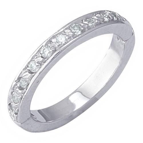 14K White Gold Aquamarine Toe Ring