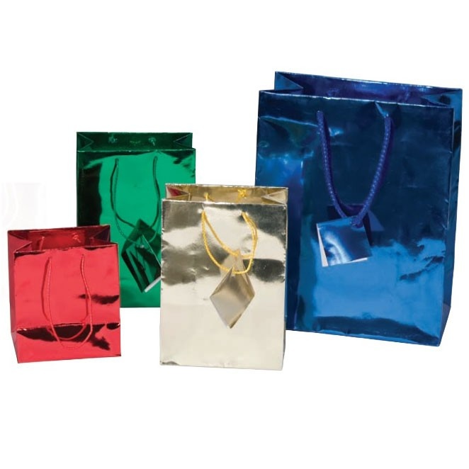 Tote-Style Gift Bags In Assorted Metallic Colors