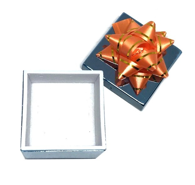 Ribbon Collection Metallic Ring Slot Box In Various Shapes & Colors