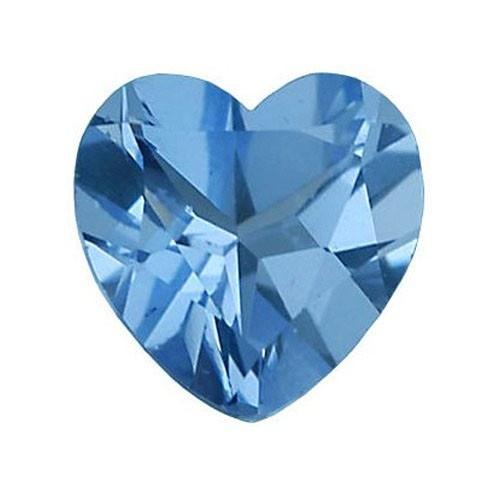 Heart Shape Synthetic Blue Zircon