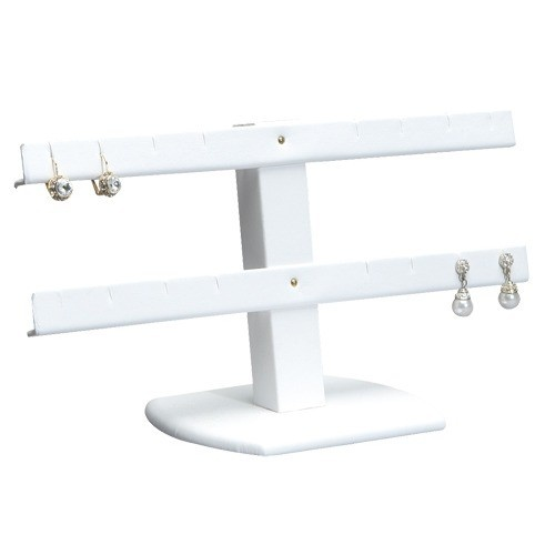 """8-Pair Double-Tier Earring Stands, 10.25"""" W X 7"""" h"""