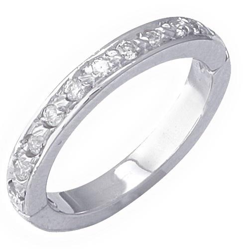 14K White Gold Eternity Diamond Toe Ring