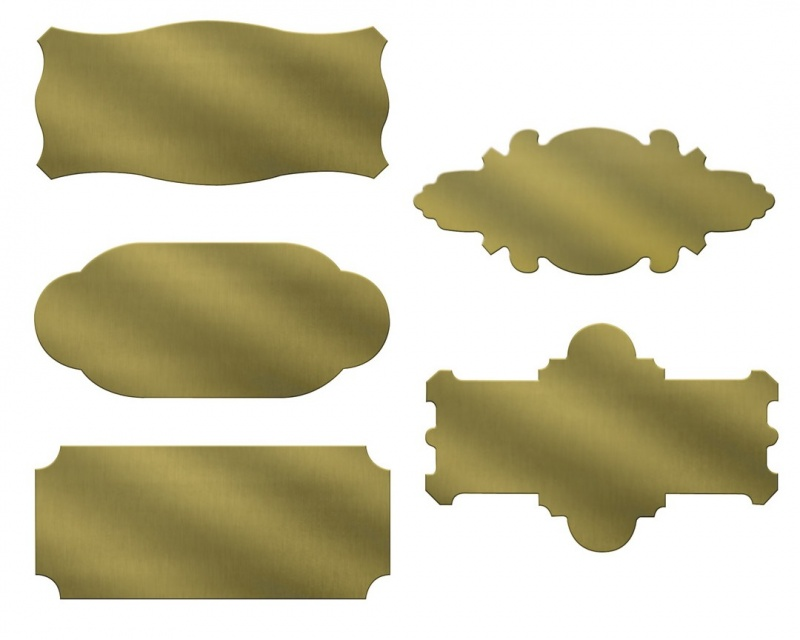 Grs® Heavy Brass Name Plates