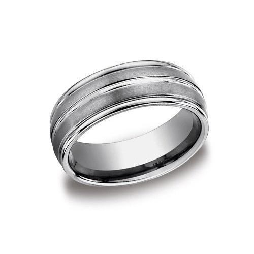 Tungsten Wedding Band 8 Mm Wide