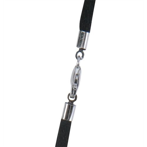 Flat Synthetic Leather Black 2.5mm