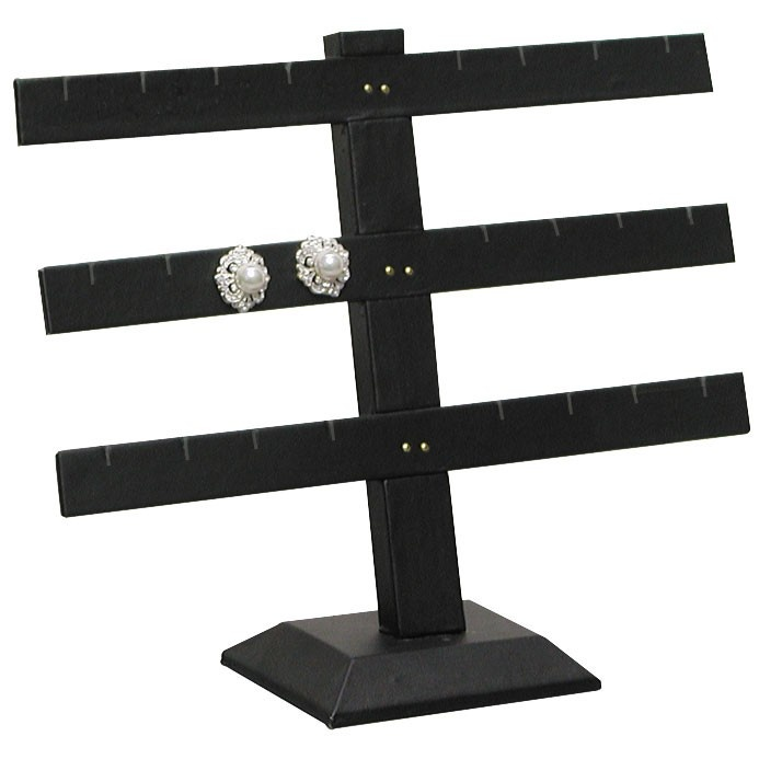 """12-Pair Triple-Tier Earring Stands, 10.25"""" W X 8.5"""" h"""