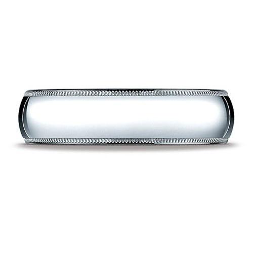 Platinum Milgrain Comfort Fit Band 6 Mm