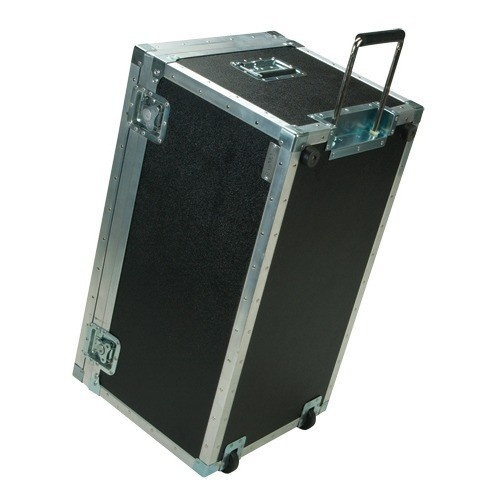 """Wheeled Black Traveler's Trunk (holds Up To 60 Trays), 30"""" L X 17"""" W"""