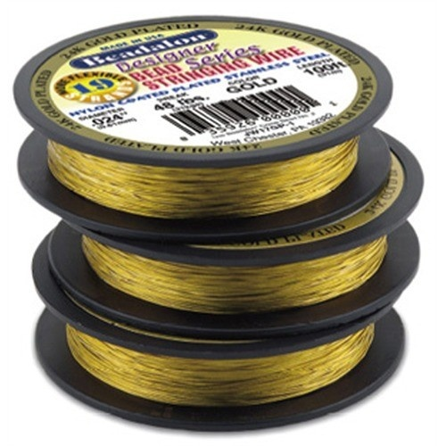 Bead Wire 19 Strand Gold