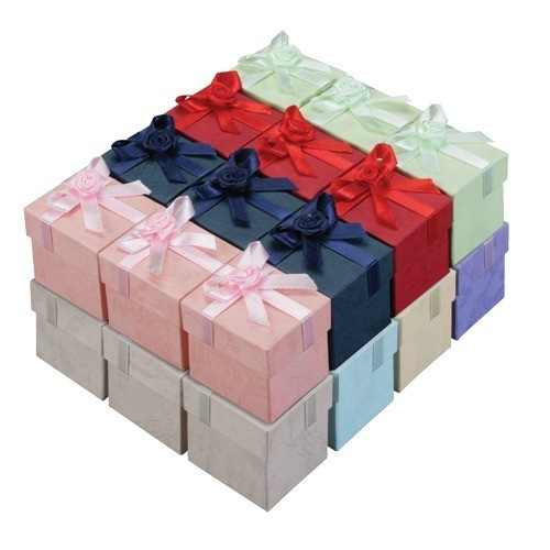 Ribbon Collection Floral Detail Ring Slot Box In Assorted Colors