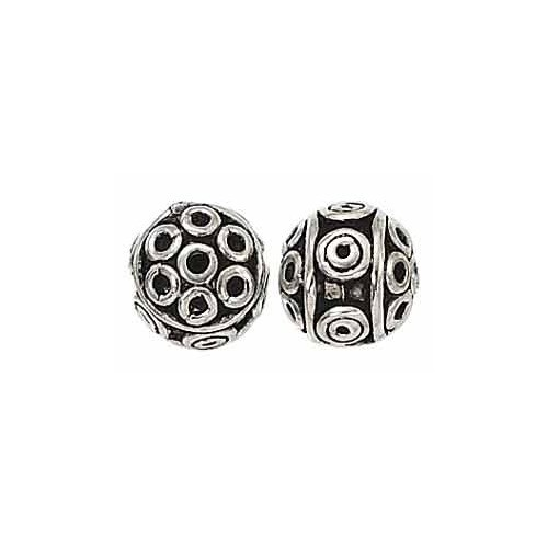Sterling Silver Bali Bead - 9mm