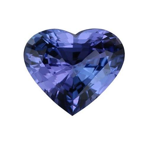 Heart Shape Synthetic Tanzanite