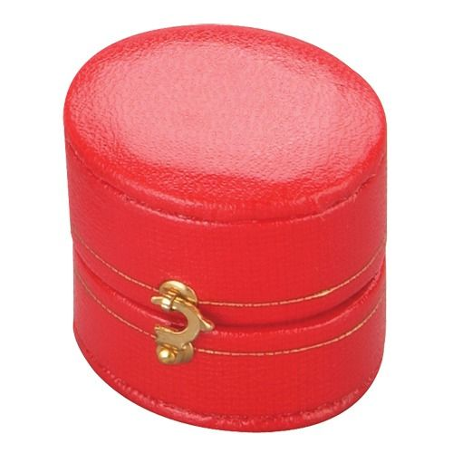 """""""heirloom"""" Leatherette Oval Ring Slot Box In Assorted Colors"""