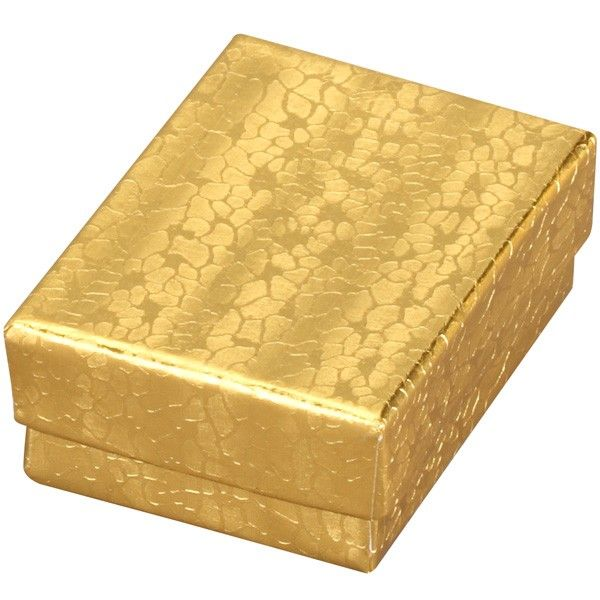 Cotton-Filled Gift Box In Gold Foil