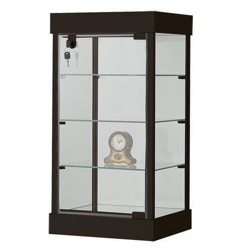 "4-Level Glass Showcases W/Lighting & Locking Door, 14"" L X 12"" w"