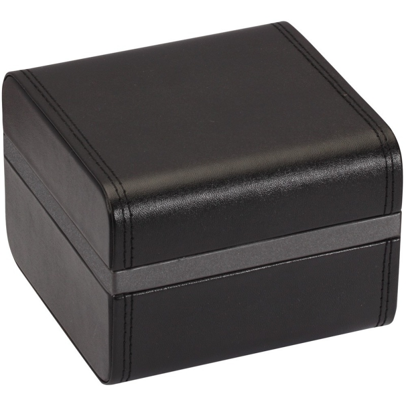 """Diplomat """"Victoria"""" Watch Box In Steel Gray Accented Onyx"""