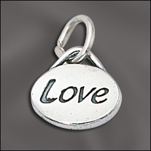 Sterling Silver Message Charm - Love