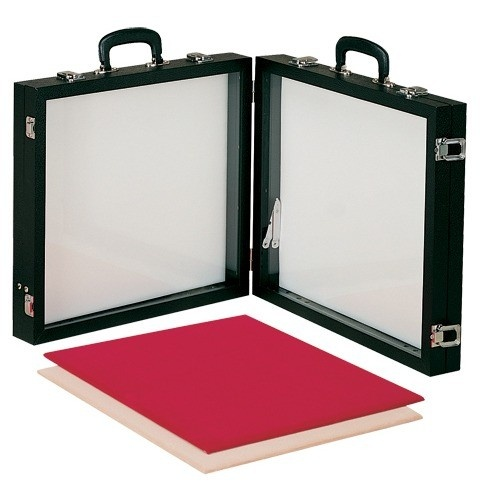 "Double-compartment Portable Glass Showcases, 24"" L X 20"" W"