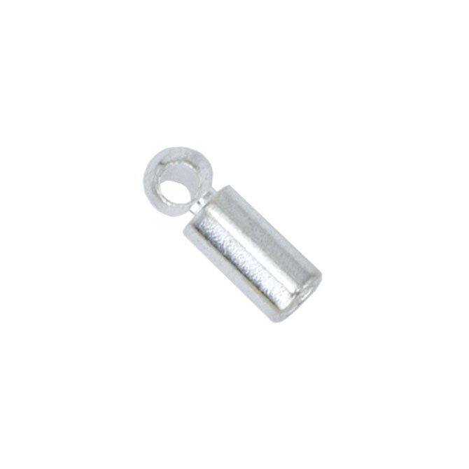 Heavy Tube Cord Ends - Silver Plated 5Pc