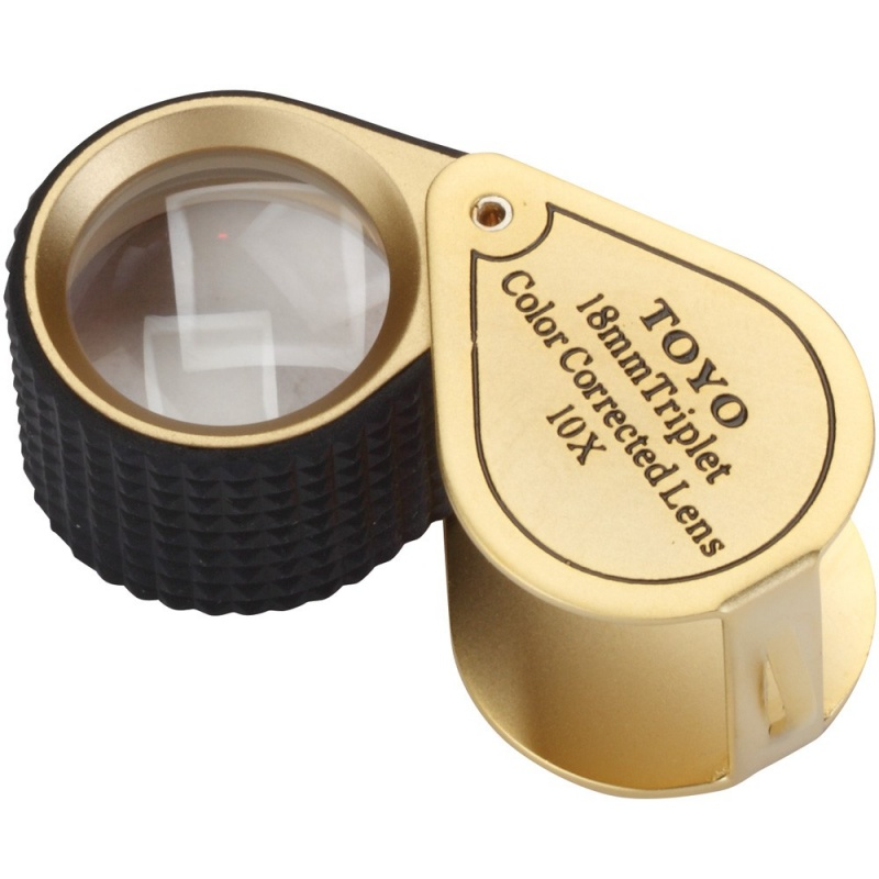 Toyo 10X Triplet Loupe- Gold Color