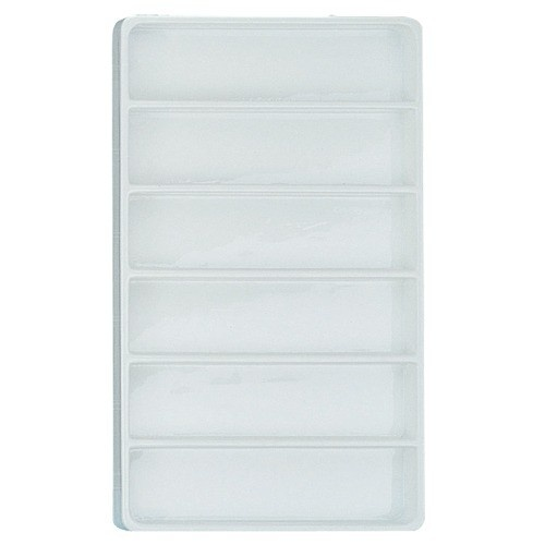 "6-Bracelet Stackable Plastic Trays In White, 15.88"" L X 9.5"" w"