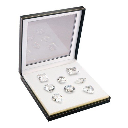 Set Of 8 Extra-Large Fancy Genuine Cubic Zirconia In Case (700 Ct. Weight)