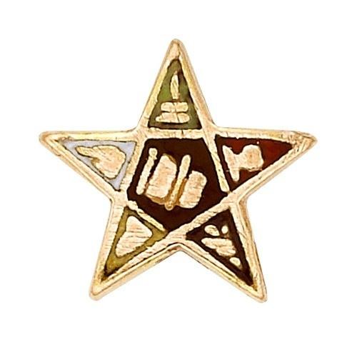 14K Yellow Masonic Emblem W/ Tube