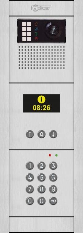 G2+ Digital Ent Panel-Alum-Fl.. Comes With Flush Back Boxes Keypad Module And Navigation Module And Camera/Speaker/Mic