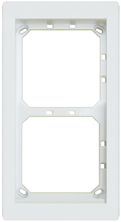 2hx1w Module Panel Frame-white. Requires Upg2 Flush Box Or Apg2w Surface Box Includes 2 Mvrw Locking Strips.