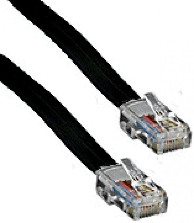 6' Straight Cord--8 Pin--black. .