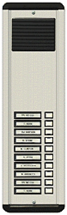10 Plast But L/S Panel-Flsh-Al. Requires Oh601 Flush Housing. Standard Type With Plastic Pushbuttons And Plastic Grille