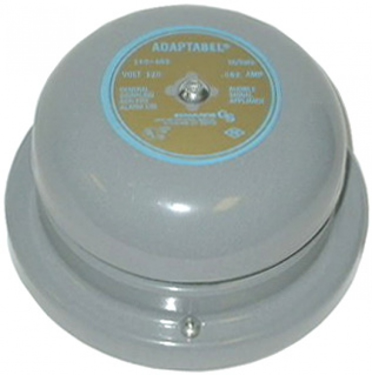 """6"""" Vibrating Bell---18-24 Vac. Operates On 24vac Current Draw: .35 Amps 102 Db At 1 Meter Distance."""