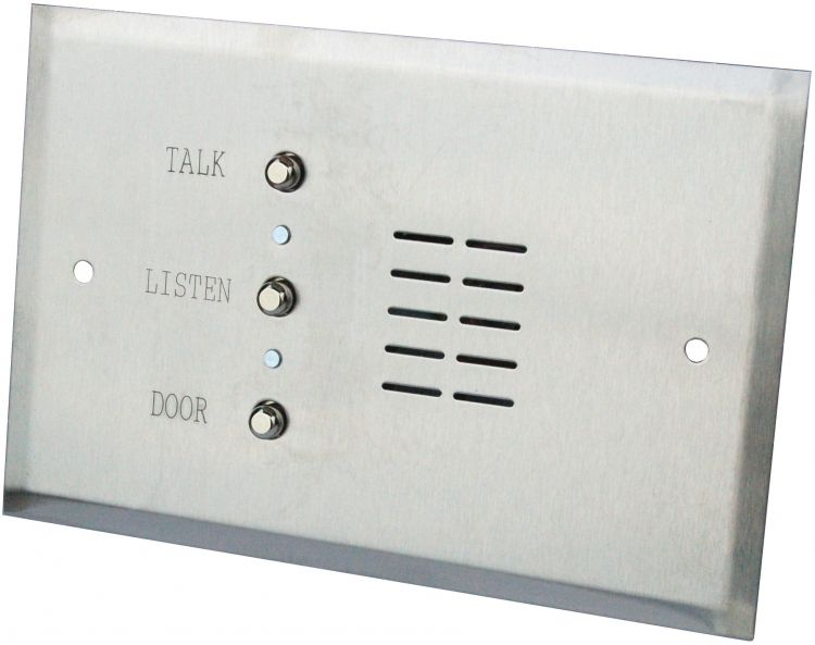 """4 Wire Apt Stat-8""""W/5.5""""H-Stst. With Metal Pushbuttons And Pigtail Connectors--For 4 Wire Systems"""