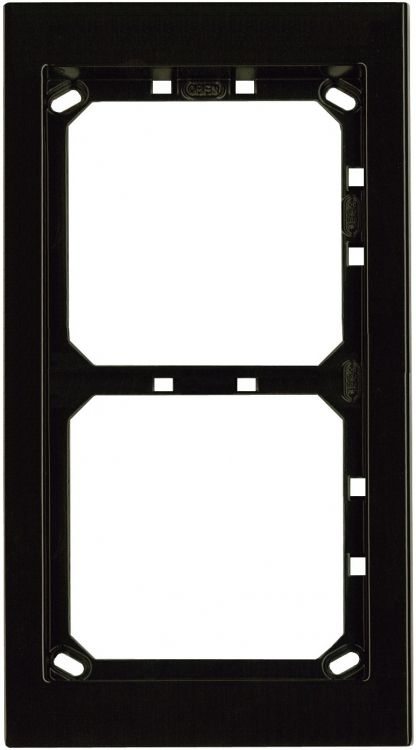 2hx1w Module Panel Frame-brown. Requires Upg2 Flush Box Or Apg2b Surface Box Includes 2 Mvrb Locking Strips.