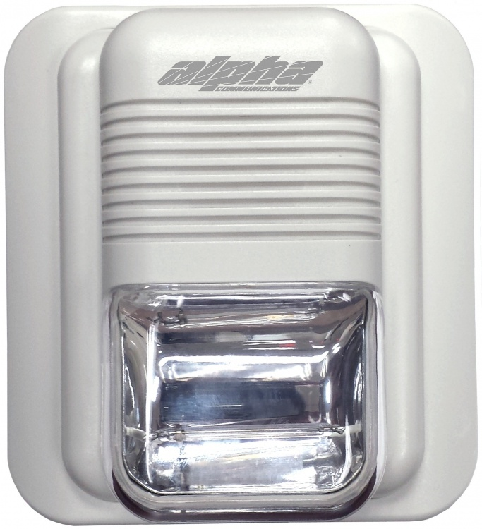 """Stand-alone Strobe Unit+delay. Requires 24vdc For Strobe Use. Installs Onto 4"""" Sq. Elec. Box (with Time Delay Circuitry)."""
