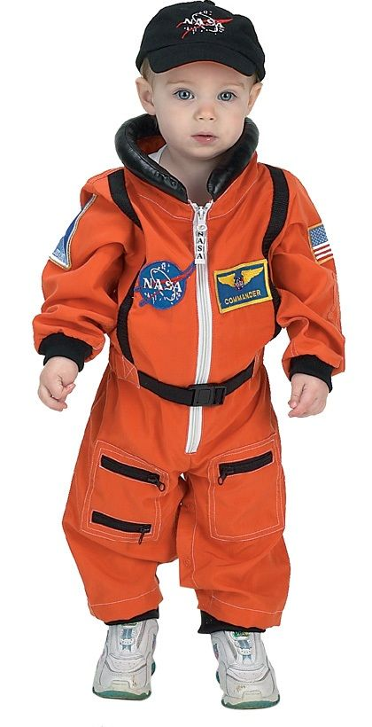 # Astronaut Suit W/embroidered Cap, Size 18month