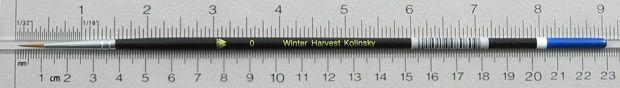 Winter Harvest Kolinsky Sable: Long Hair Round Size 0 Brush