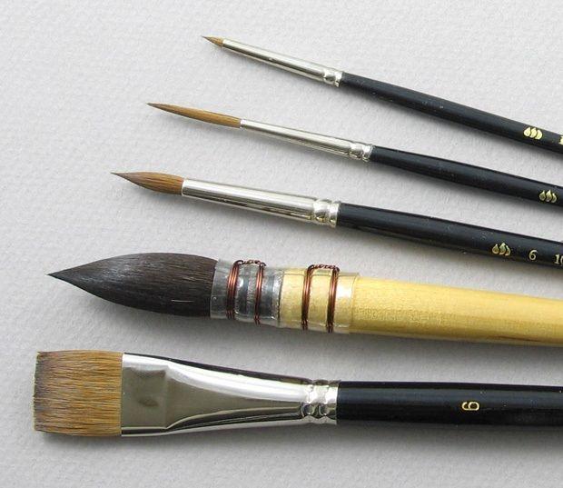 Trinity Brush Aquarelle Set of 5 Art Brushes