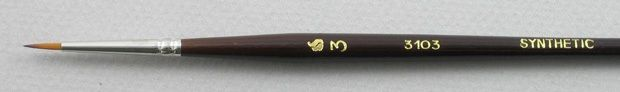Trinity Brush Synthetic Hair 3103: Round Brush
