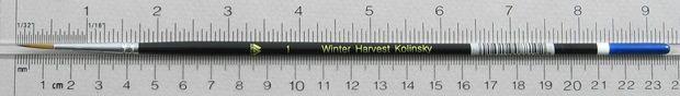 Winter Harvest Kolinsky Sable: Long Hair Round Size 1 Brush