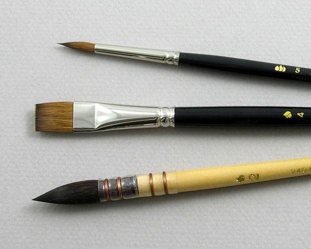 Trinity Brush Apprentice Set of 3 Art Brushes