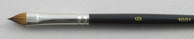 Trinity Brush Kolinsky Sable Short Handle Filbert Brush